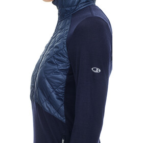 Icebreaker Ellipse LS Half Zip Hood Women midnight navy/ice blue